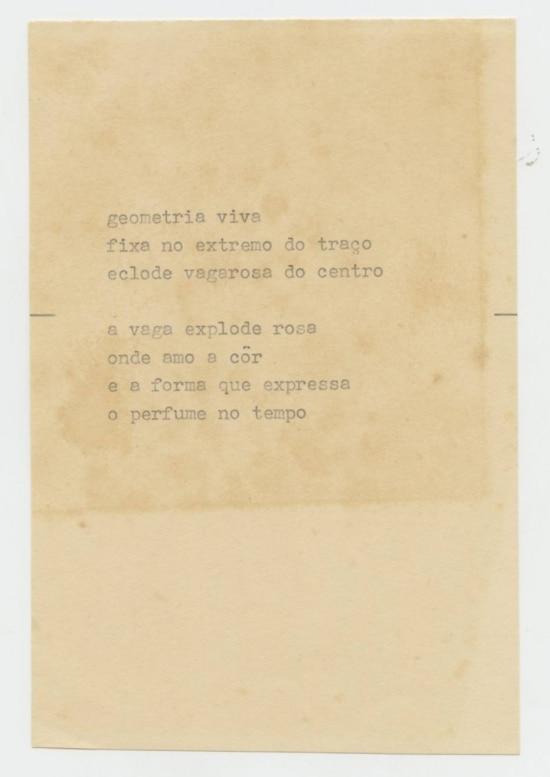Poema de Willys de Castro na mostra 'Lado a Lado'