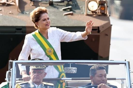 Presidente Dilma Rousseff participa dos desfiles de 7 de Setembro