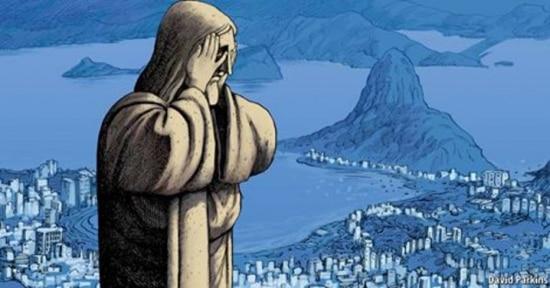 'The Economist'volta a usar uma ilustração doCristo Redentor para refletir sua avaliação sobre o Brasil