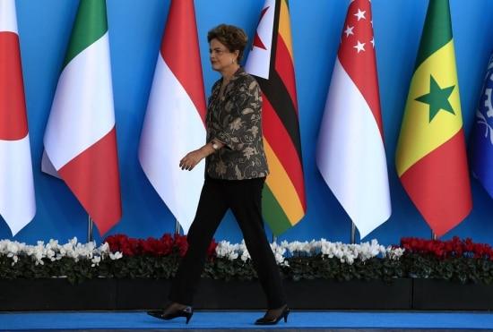 A presidente Dilma Rousseff em reunião do G-20 na Turquia, em novembro de 2015