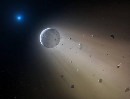 Uma anã branca representa o estágio final de uma estrela e possui intensa gravidade