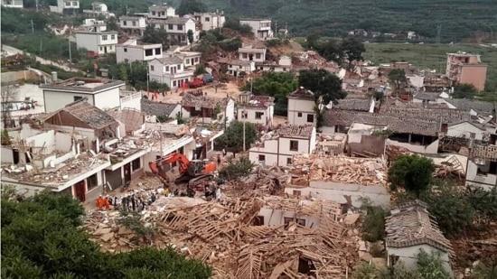Segundo o escritório de informações de Yunnan, pelo menos 120 dos mortos eram do município densamente povoado de Ludian