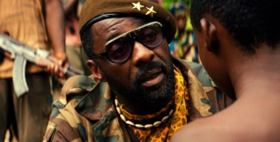 Idris Elba em 'Beasts of no Nation'