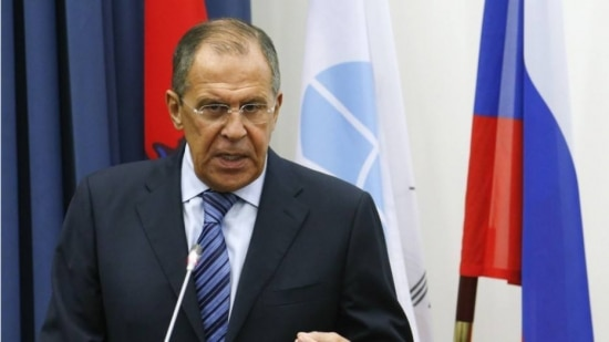 O ministro de Relações Exteriores da Rússia, Sergei Lavrov