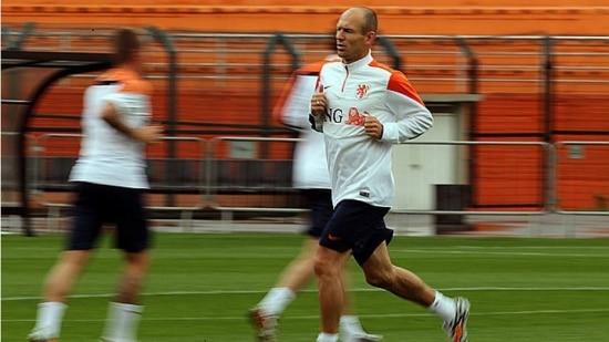 Robben é um dos cinco jogadores da Holanda que estiveram na do Mundial em 2010