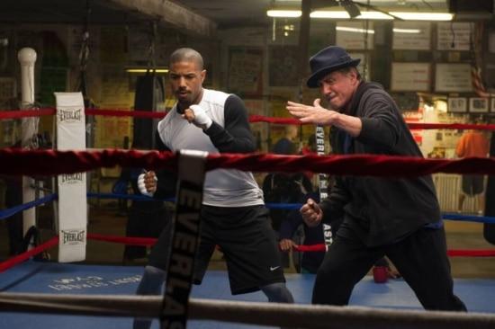 Stallone e Michael B. Jordan nas cenas de 'Creed'