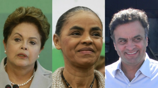 Montagem/Estadão - Dilma, Marina e Aécio