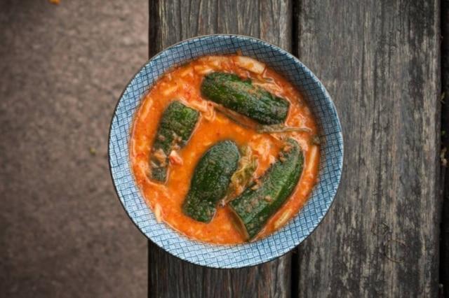 Receita de conserva de pepino com kimchi