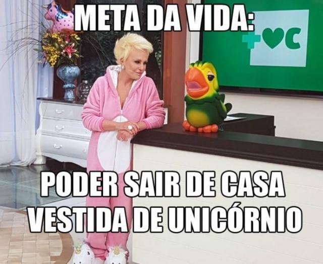 Ana Maria Braga virou assunto nas redes após se vestir de unicórnio no 'Mais Você'.