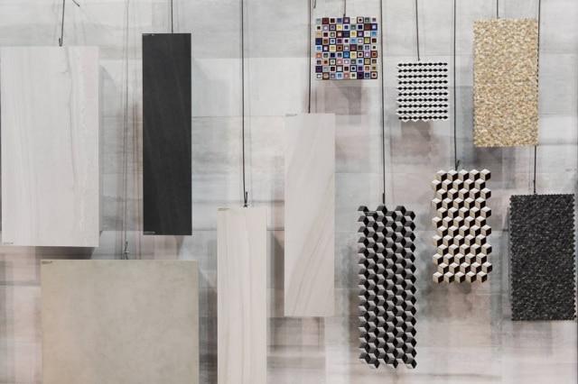 A linha Urban Retrô da Roca Cerâmicas com peças de cerâmica ou acrílico com efeito 3D