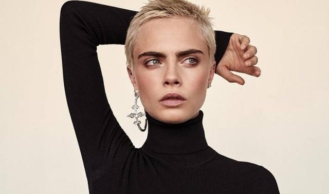 A atriz e modelo Cara Delevingne