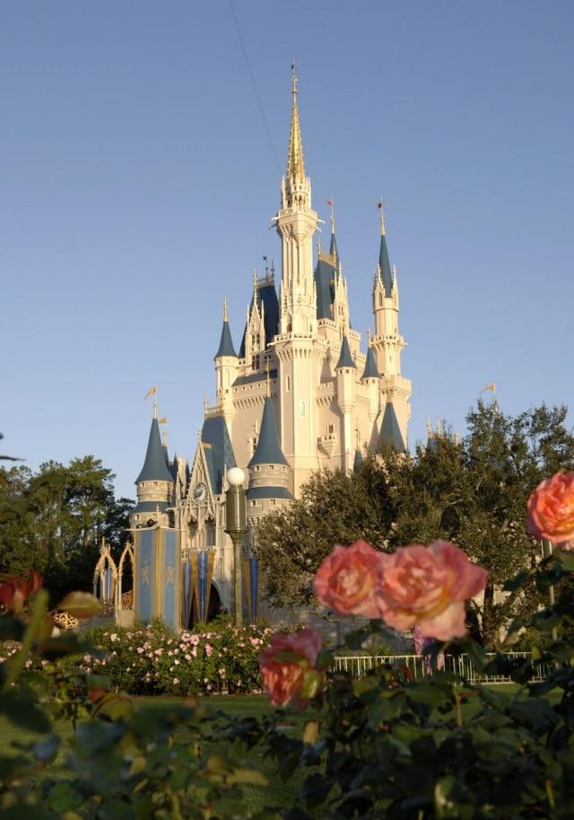 Na Disney da Flórida, o icônico Castelo da Cinderela