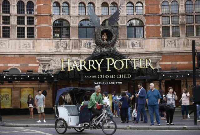 O Palace Theatre, onde está em cartaz a peça 'Harry Potter and The Cursed Child'