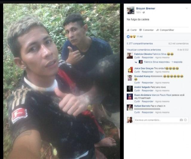 Fugiu da prisão mas publicou imagens da fuga no Facebook