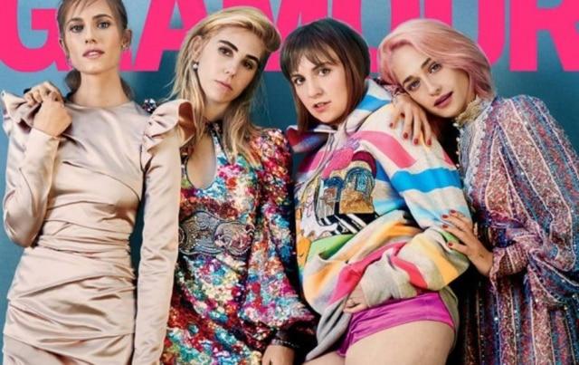 As meninas da série Girls são a capa da Glamour americana de janeiro.