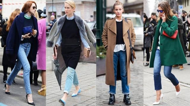 Combine o jeans com sapatos de salto, camisa com o colarinho fechado e blazer, de preferência com pegada militar