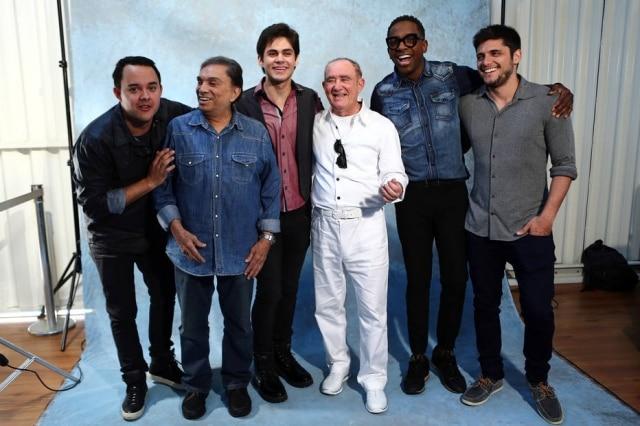 Gui Santana, Dedé Santana, Lucas Veloso, Renato Aragão, Mumuzinho e Bruno Gissoni