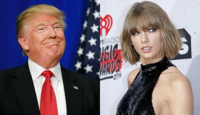 Donald Trump aparentemente é fã deTaylor Swift.