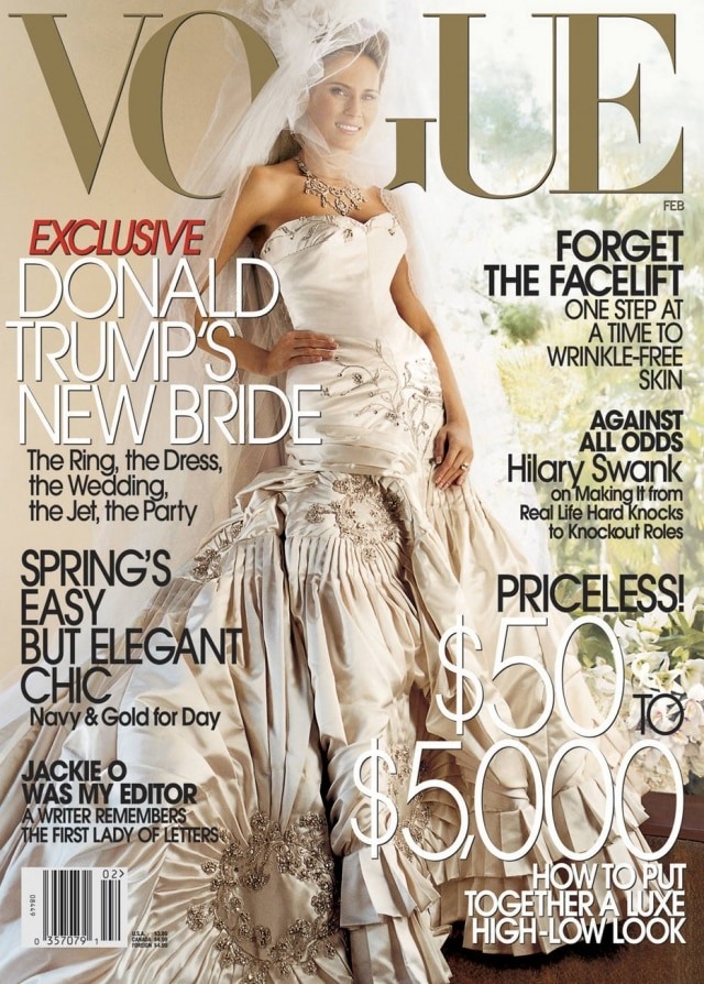 Em fevereiro de 2005 foi capa da Vogue America usando seu vestido de casamento.
