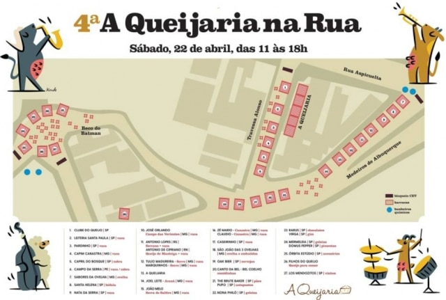 O mapa da feira