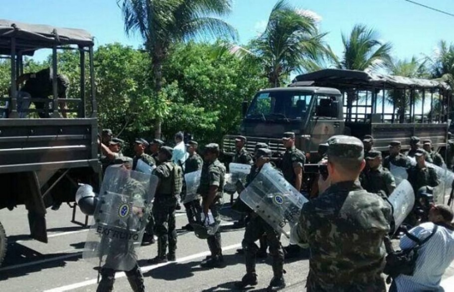 Tropas federais desembarcam em Salvador para reforçar policiamento - Secom BA/Divulgação