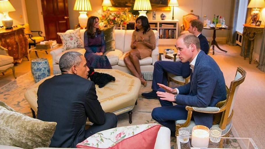 No Reino Unido, Obama visita a família real - Dominic Lipinski/AP