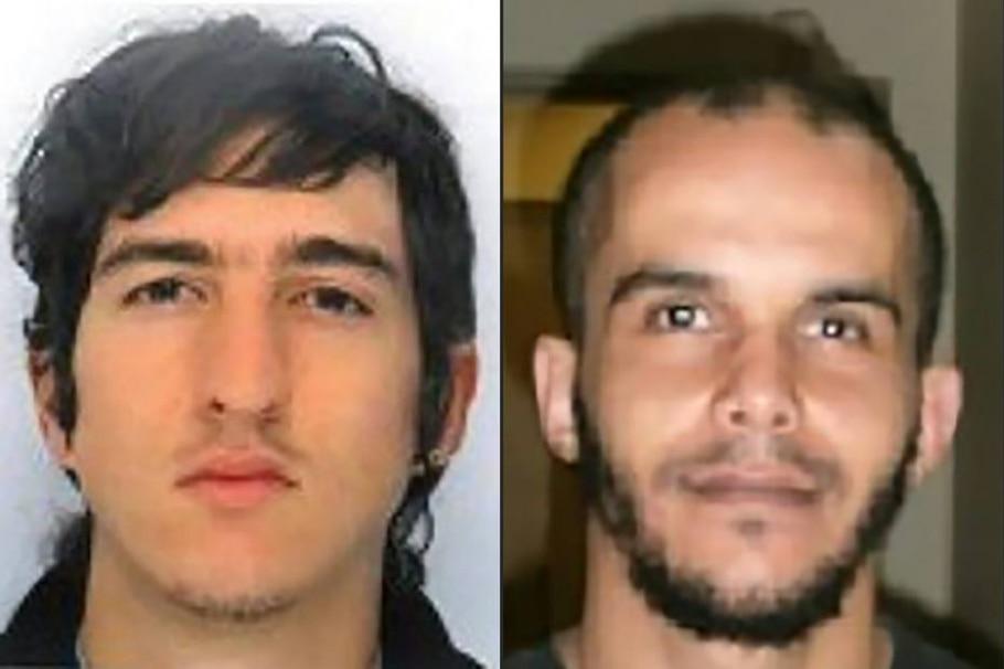 Clément B. (E), de 24 anos, e Mahiedine M., de 30 anos, foram presos na França sob suspeita de planejarem 'atentado iminente' - AFP PHOTO / FRENCH POLICE