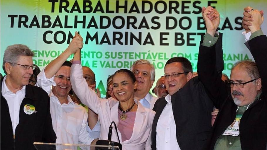Marina Silva e seu vice Beto Albuquerque - Márcio Fernandes/Estadão
