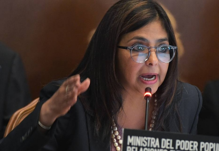 Ministra das Relações Exteriores da Venezuela, Delcy Rodríguez, afirmou que OEA atua com parcialidade em relação a seu país - AFP PHOTO / MANDEL NGAN