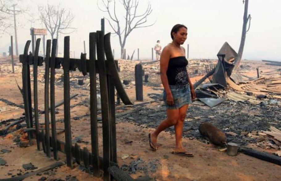 O incêndio foi controlado hoje cedo e a corporação iniciou o trabalho de rescaldo - Edson Rodrigues/Secom-MT