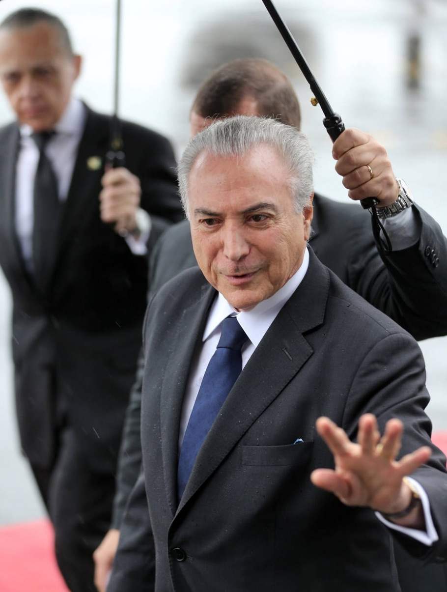 Temer chega a Chapecó - Paulo Whitaker/Reuters