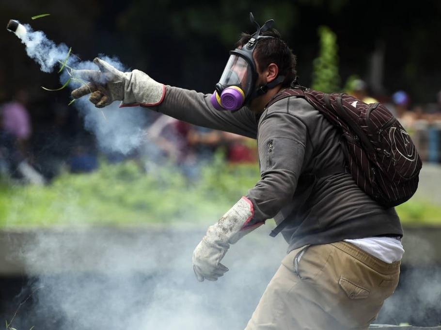 Protestos na Venezuela - Juan Barreto / AFP