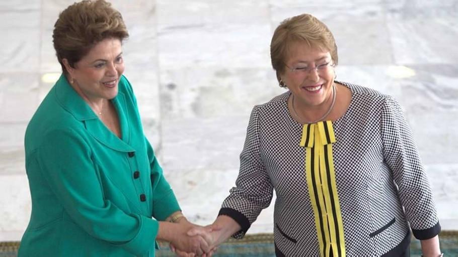 Bachelet no Brasil - Ed Ferreira/Estadão