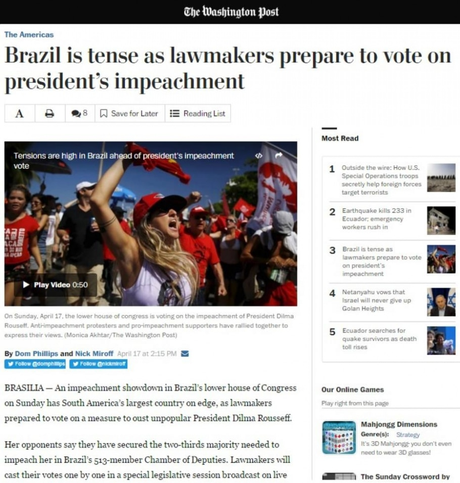 The Washington Post - Reprodução/The Washington Post