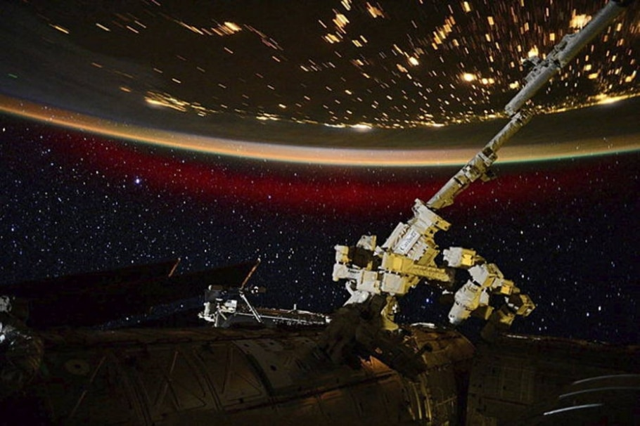 Nasa fotografa a Aurora Boreal no espaço  - EFE