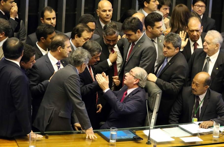 Deputados brigam dentro da Câmara - Antonio Augusto/Divulgação