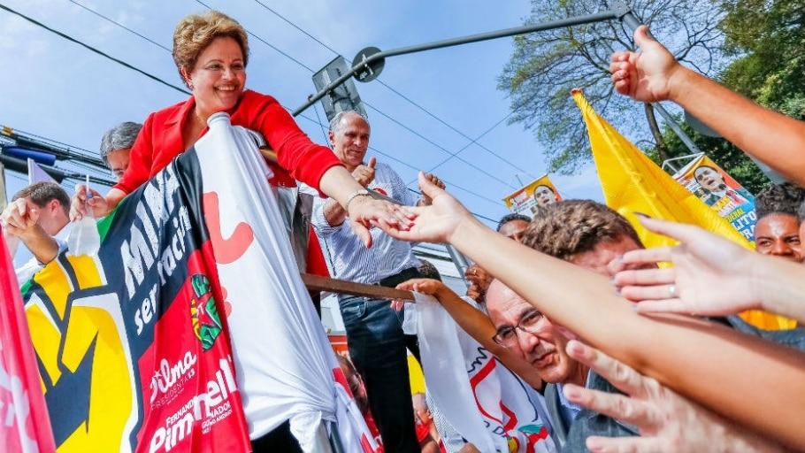 Dilma Rousseff durante carreata e caminhada no bairro Venda Nova - Divulgação