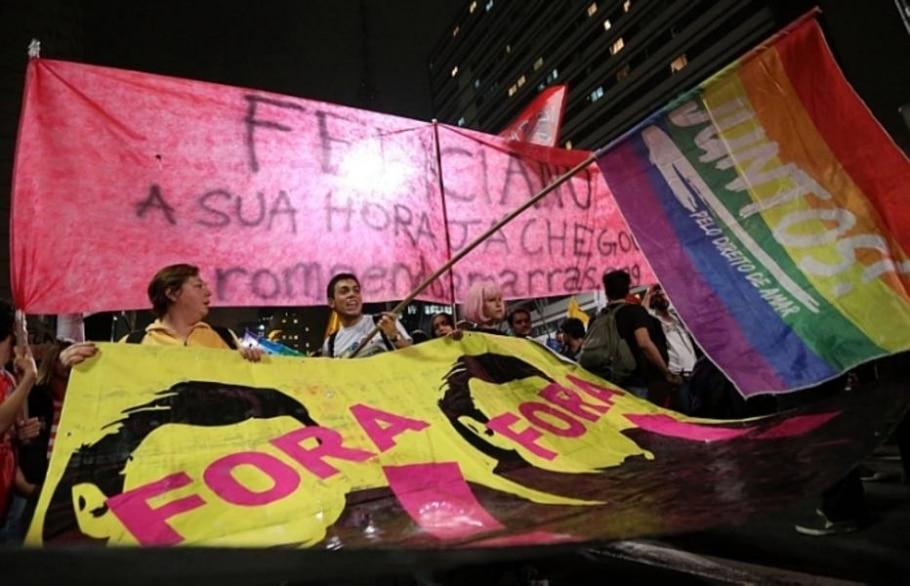 Grupo faz nova manifestação contra o projeto na capital paulista - JF Diorio/AE