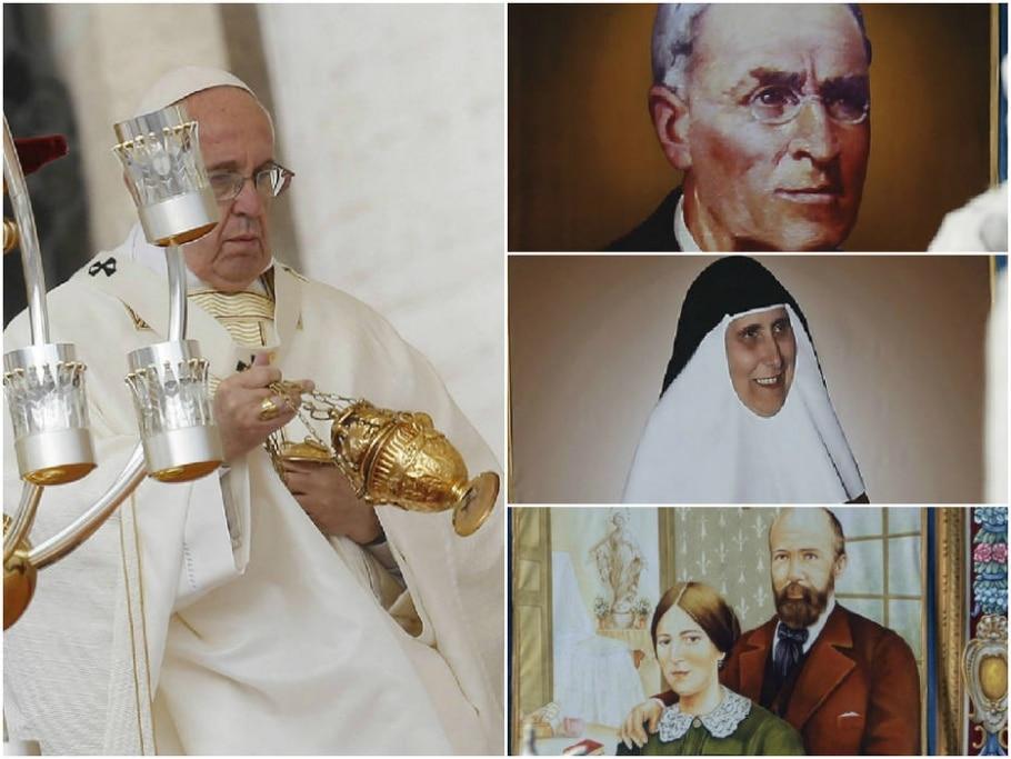 Papa Francisco canoniza quatro beatos - Giuseppe Lami/EPA/EFE, Alessandro Bianchi/Reuters, Alessandro Bianchi/Reuters e Alessandro Tarantino/AP