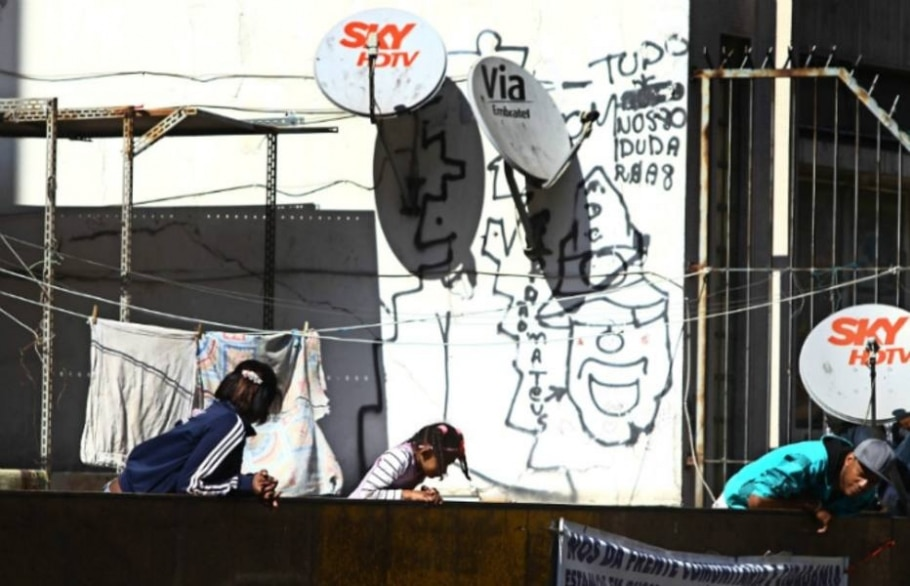 PM faz reintegração de posse no centro de São Paulo - Felipe Rau/AE