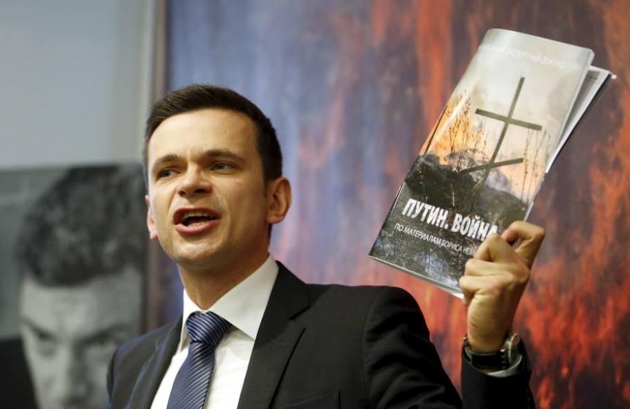 opositor russo Ilya Yashin apresenta relatorio sobre presença militar russa na Ucrânia - REUTERS/Maxim Zmeyev