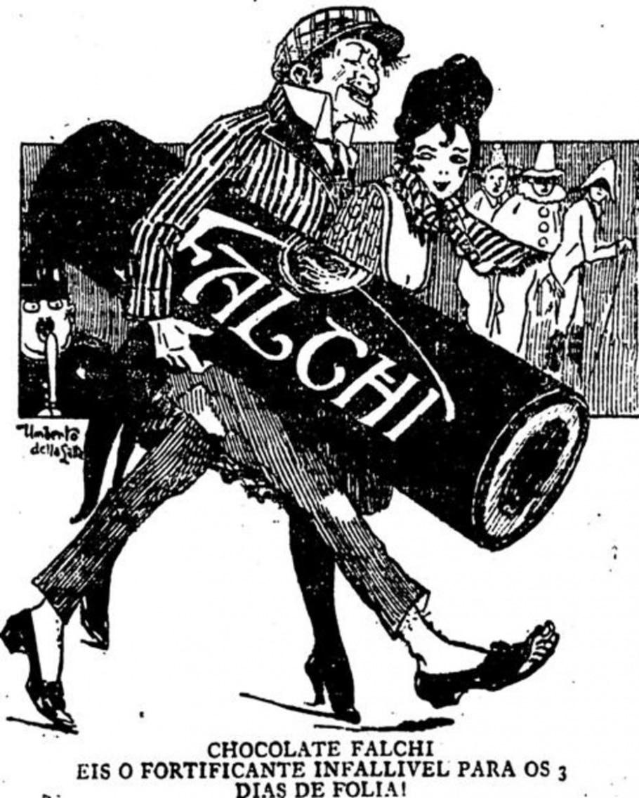 Anúncio do chocolate Falchi (1922) - Acervo/ Estadão