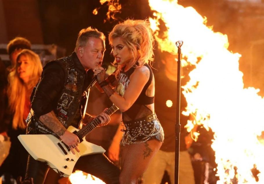 James Hetfield e Lady Gaga - Lucy Nicholson/Reuters
