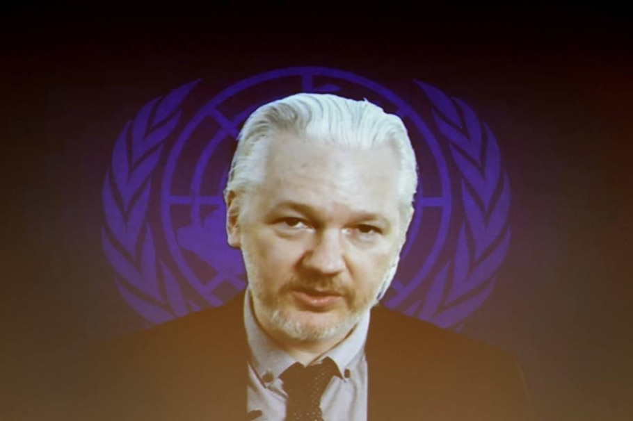 Julian Assange - FABRICE COFFRINI / AFP
