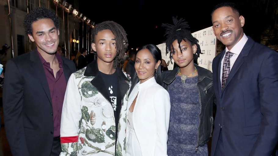 A família Smith: Trey, Jaden, Jada, Willow e Will - GETTY IMAGES