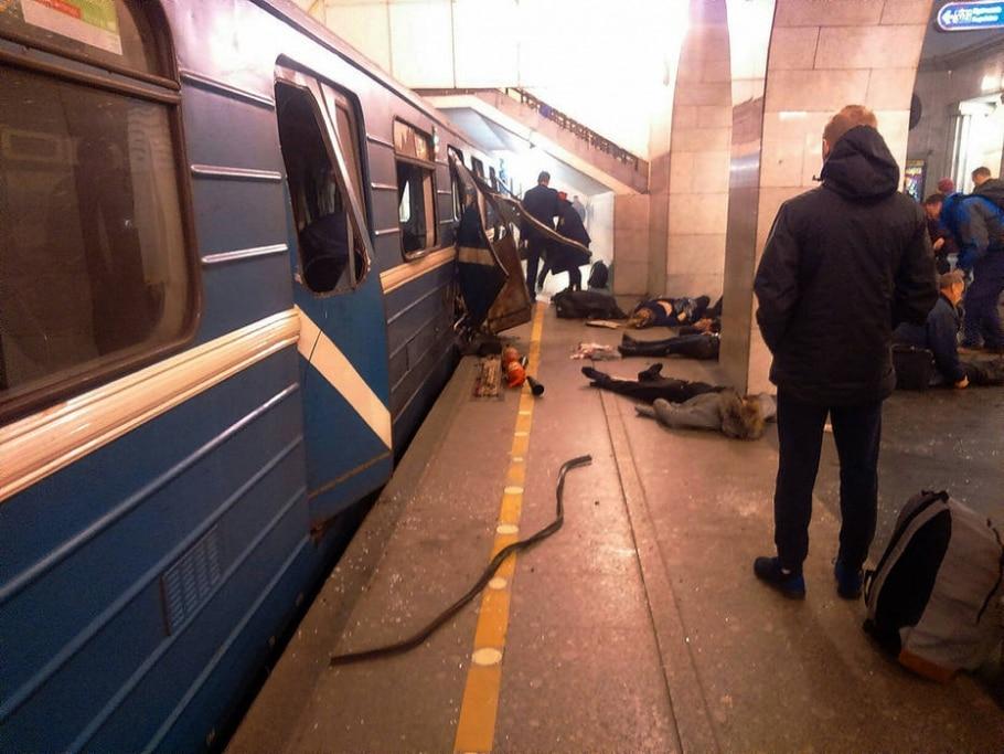 Explosão no metrô de São Petersburgo deixou dezenas de feridos - AP Photo/St. Peterburg via AP