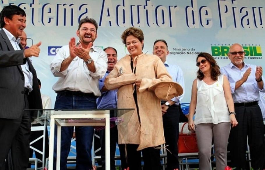 Dilma Rousseff encerra visita a São Julião (PI) vestida de vaqueira - Thiago Amaral/Divulgação