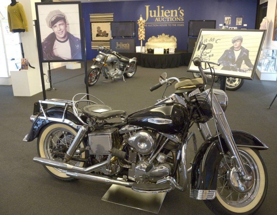 A Harley-Davidson, de 1969, usada pelo ator Marlon Brando  - EFE