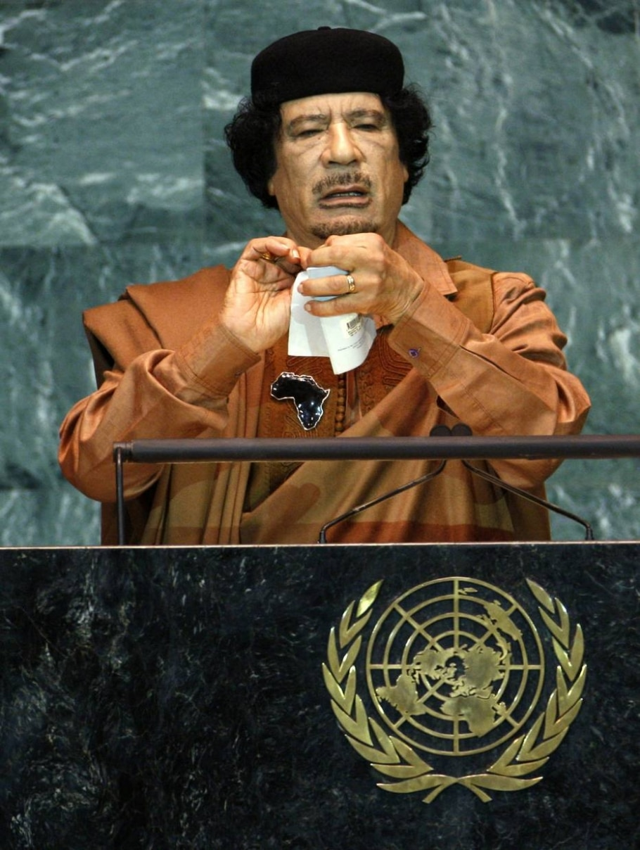 Quatro anos sem o ditador líbio Muamar Kadafi - REUTERS/Mike Segar