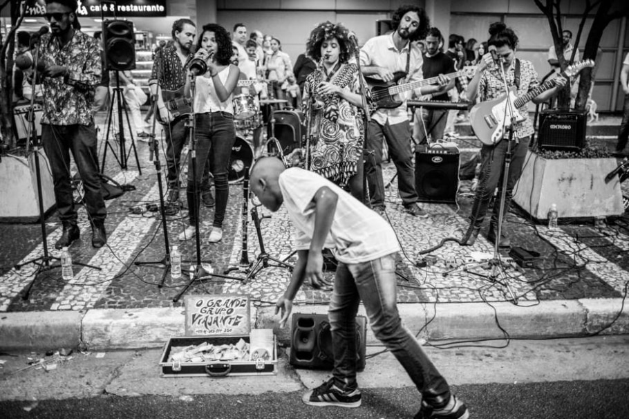 Músicos de rua da Avenida Paulista - Tiago Queiroz/Estadão